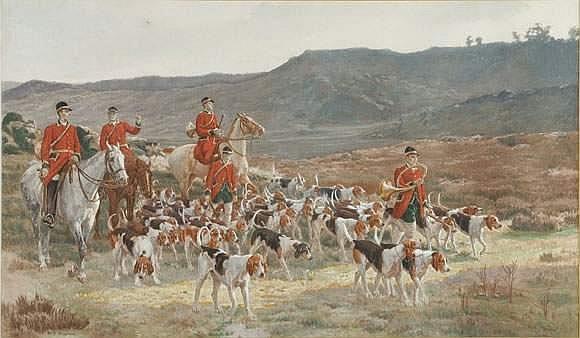 TAVERNIER Paul (1852-?) - La chasse à courre 400 /