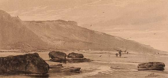 ALLONGE Auguste (1833 - 1888) - Pêcheurs en bord