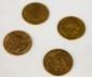 LOT de 4 pièces en or jaune. Poids brut : 25,7 g