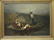 ECOLE FRANCAISE Fin du XIXème siècle, D'après Ernest HEBERT (1817-1908) La Malaria Huile sur toile d