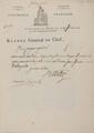 KLéBER (Jean-Baptiste). Ordre signé, adressé au payeur général de l'armée d'égypte. Le Caire, 17 frimaire an VIII [8 décembre 1799]. 1/2 p. in-folio, en-tête imprimé « Kléber général en chef » avec vignette gravée sur bois à l'effigie de la