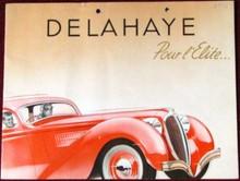 DELAHAYE : Catalogue de présentation des modèles 134, 135, 148, et 165.