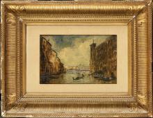 Édouard-Jacques DUFEU (1836-1900) Vue de Venise Hu…