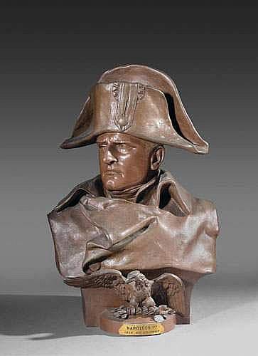 COLOMBO Renzo (1856-1885). «BUSTE DE NAPOLÉON IER