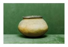 égypte, époque néolithique.  VASE. Terre cuite décor gravé.  H. 14 cm.
