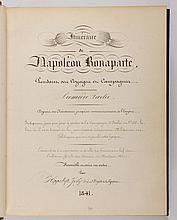 [NAPOLÉON IER]. - JOLY (Hippolyte). Manuscrit intitulé « Itinéraire de Napoléon Bonaparte pendant ses voyages et campagnes ». 1841. Environ 1000 pp., sur feuillets reliés en 2 volumes in-4, demi-maroquin vert à grain long, dos à nerfs cloisonnés et