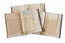 BESSIÈRES (Jean-Baptiste). Correspondance de 138 lettres, 1805-1813, soit 135 lettres adressées à son épouse Adèle, 2 lettres à son fils Napoléon Bessières (volume III, n° 250 et 254), et une lettre à son beau-père (volume III, n° 241). S'y ajoutent