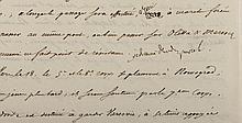 NAPOLÉON IER. Lettre signée « Napole » avec 14 MOTS AUTOGRAPHES, adressée au PRINCE EUGENE de Beauharnais. Dantzig, 10 juin 1812. 4 pp. 1/2 in-4. Peu avant de passer le Niémen EXCEPTIONNELLE LETTRE STRATEGIQUE D'ENSEMBLE DE L'EMPEREUR, ECRITE EN