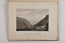 MÉMORIAL DE SAINTE-HÉLÈNE - Recueil de planches. [sans lieu, sans nom, vers 1824], in-4 de 5 planches, reliure de l'époque, demi-basane, dos lisse orné de roulette dorée (frottements). Recueil de planches tirées des tomes I et VII du Mémorial de