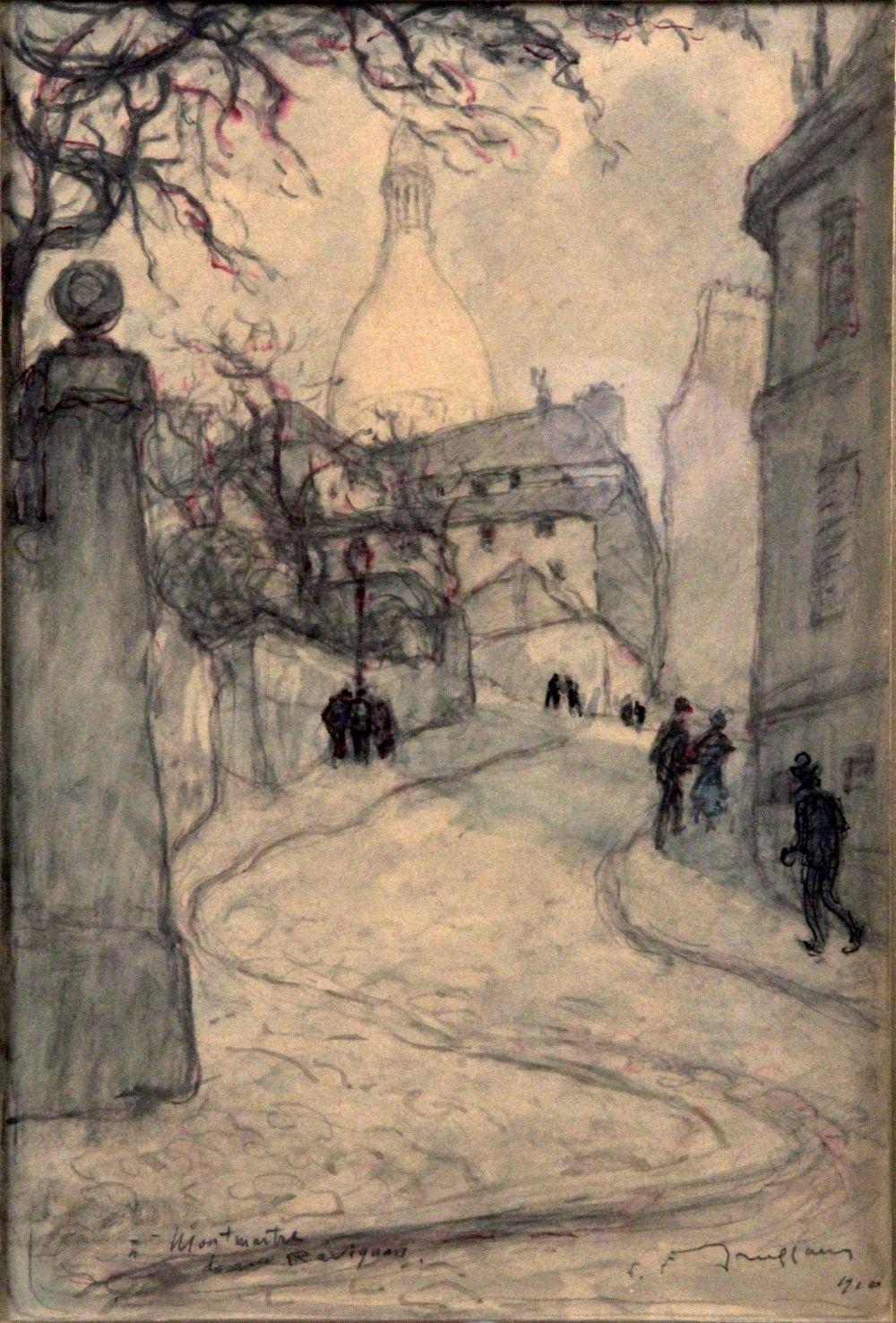 Sold Price Fernand Fortune Truffaut 1866 1955 Montmartre La Rue Ravignan 1910 Aquarelle Et Fusain Signe Et D May 3 0120 2 30 Pm Cest