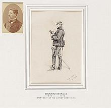 Edouard DETAILLE (1848-1912).  Ecole française. « Capitaine d'infanterie d