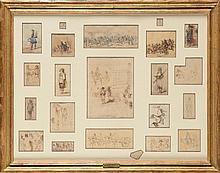 Edouard DETAILLE (1848-1912).  Ecole française. «Suite de vingt études de
