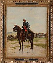 Edouard DETAILLE (1848-1912). Ecole française. « Capitaine de hussard en c