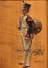 Edouard DETAILLE (1848-1912).  Ecole française. « Tambour du Premier Empir