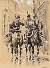Edouard DETAILLE (1848-1912).  Ecole française. « Cuirassier du 3e  régime