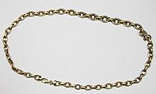 DEMI PARURE en or jaune composée d'un bracelet et d'un collier. Poids brut : 40,5 g