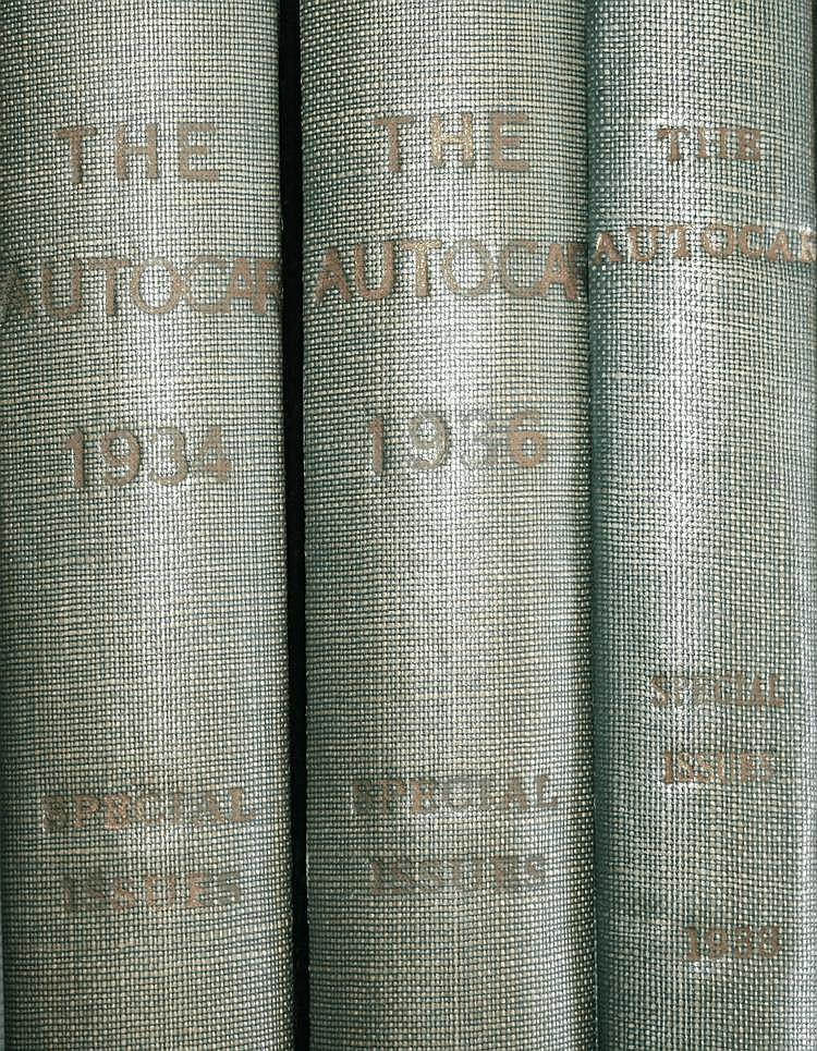 The Autocar, les années 1934, 1936 et 1938 :