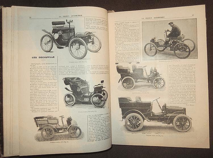 La France Automobile 1903,  8 ème année, 52 numéros, reliée en 1 volume.