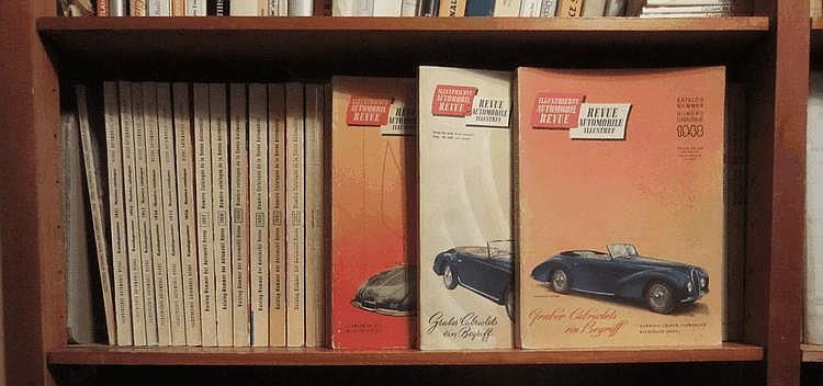Revue Automobile, exceptionnelle collection complète de 1948 à 2012, y compris le numéro spécial sur les utilitaires de 1949, soit 64 ans de collection.