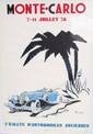 Lot de 2 affiches « 11ème rallye automobile Monte Carlo » et « 2éme rallye automobiles anciennes ».