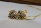 DEMI PARURE en or jaune composé d'un collier en or jaune et d'une bague ornés de saphirs. Poids brut : 17,2 g
