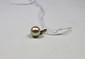 PENDENTIF la monture en or jaune retenant une perle blanche.Poids brut: 0,7 g