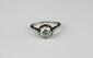 BAGUE SOLITAIRE en platine ornée d'un diamant de taille moderne d'environ 1,20 carat. Poids brut : 3,9 g TDD : 54