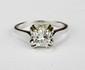 BAGUE SOLITAIRE en or gris ornée d'un diamant de taille brillant d'environ 0,80 carat.  Poids brut : 3,1 g TDD : 55