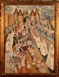 Simone REUET XXe Les communiantes Huile sur toile Signée en bas à droite 80 x 58 cm