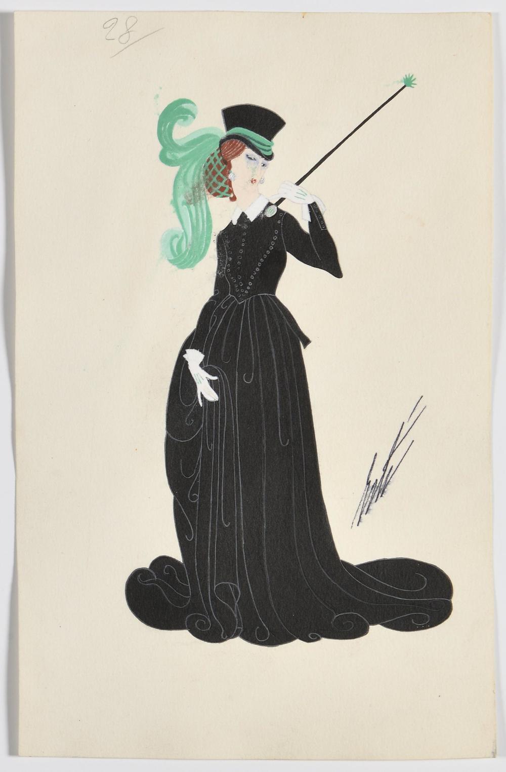 ROMAIN DE TIRTOFF dit ERTÉ (1892 – 1990) « Une ama…