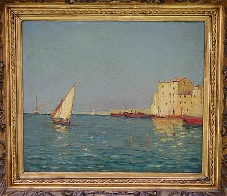 Alfred CASILE 1848-1909. « Le port de Martigues »