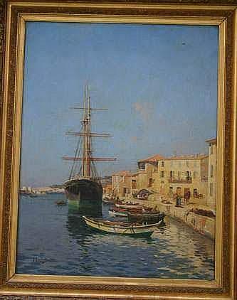 Joseph GARIBALDI 1863-1941. « Le port de Cassis »