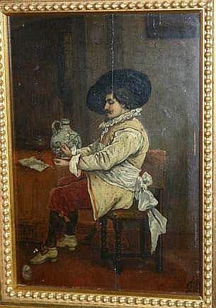 françois DUMONT né vers 1850. Mousquetaire fumant
