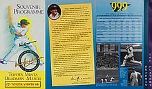 Bradman XI Souvenier Program 1994 18 Dec, Twice