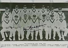 Bradman Museum Postcard #1-7 picturing the 1930