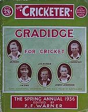 The Cricketer Spring Annual 1936. Size: 29 X 22.5