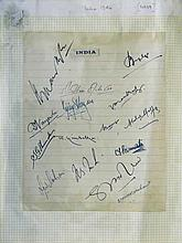 a. 1946 Autograph Sheetby Team India(15