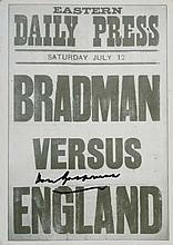 a. Autographed postcardof Bradman Printedby