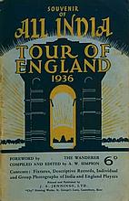 Souvenir of All India Tour of England 1936. Size: