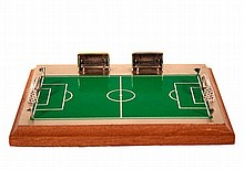 SILVER FOOTBALL FIELD MINIATURE