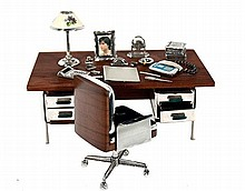 SILVER OFFICE FURNITURE MINIATURE