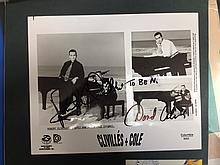 CLIVILLES AND COLE A SIGNED PUBLICITY PHOTOGRAPH