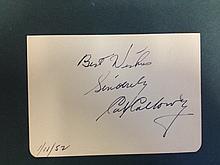 CAB CALLOWAY  autograph