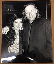 DAVE GILMOUR OF PINK FLOYD AND KATE BUSH PHOTOGRAPH