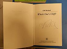 Cliff Richard Signed Book