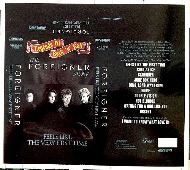 FOREIGNER A RARE ORIGINAL CROMALIN PROOF FOR FEELS LIKE THE VERY FIRST TIME