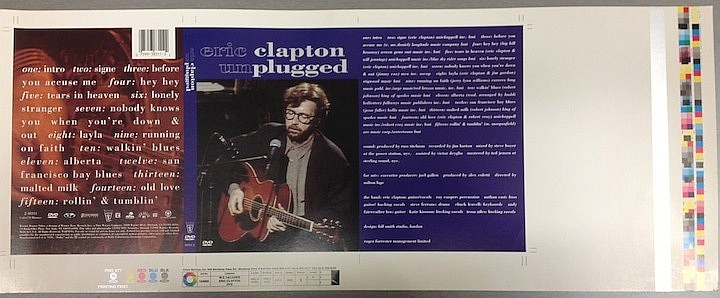 ERIC CLAPTON AN ORIGINAL PROOF ARTWORK FOR UNPLUGGED