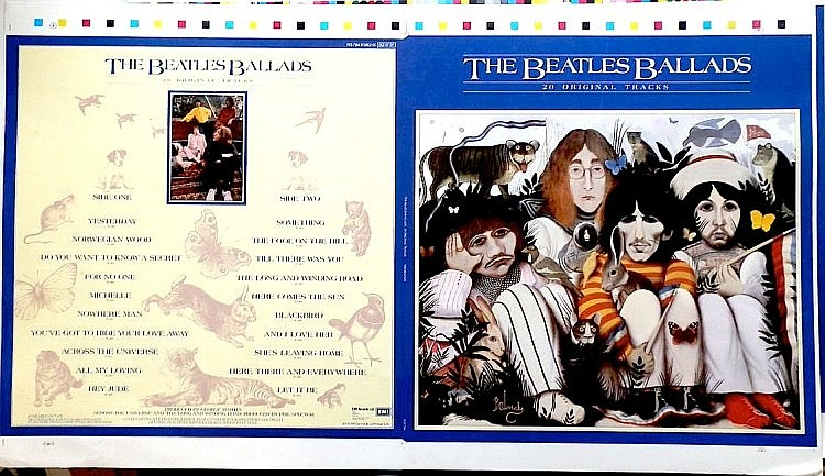 Beatles Ballads Extremely Rare unreleased cover Original 1st Generation Proof cover