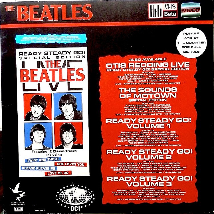 Beatles An In-store Display board for The Beatles Live VHS