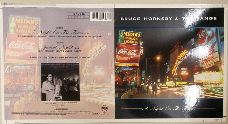 BRUCE HORNSBY & THE RANGE ORIGINAL CROMALIN PROOF FOR A NIGHT ON THE TOWN 7